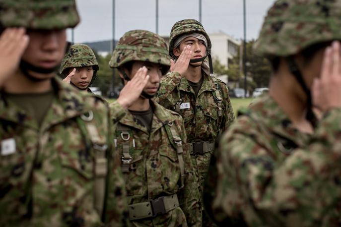 Силы самообороны Японии. Фото: Chris McGrath/Getty Images