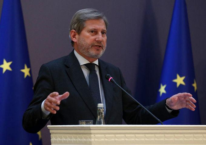 Еврокомиссар по вопросам расширения и европейской политики соседства Йоханнес Хан. Фото: ADEM ALTAN/AFP/Getty Images