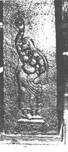 Изображение Паттини на колонне внутри храма. Фото предоставлено В.Т. Индучудан