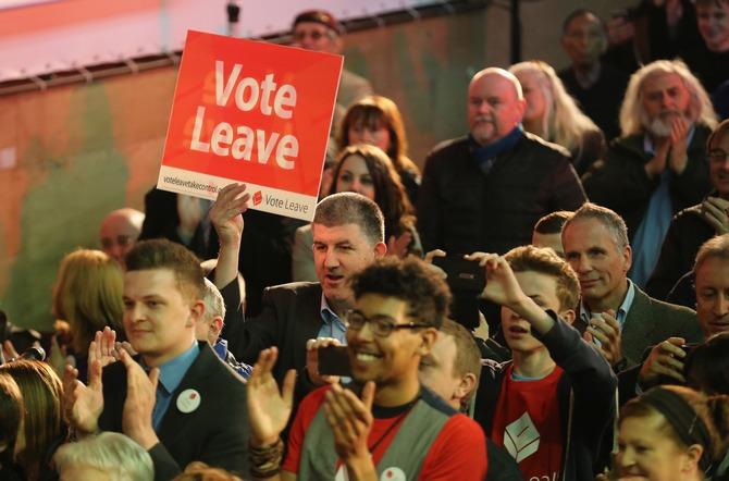 Сторонники выхода из ЕС в Манчестере, Англия. Фото: Christopher Furlong/Getty Images