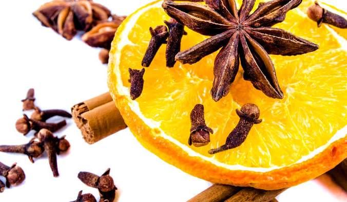 гвоздика, апельсин