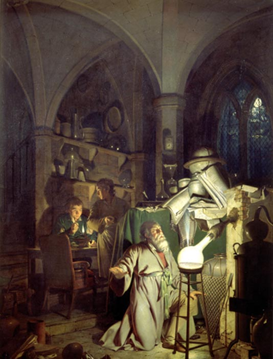 Алхимик в поисках философского камня. Картина Джозефа Райта из Дерби, 1771 г. Фото: Public Domain