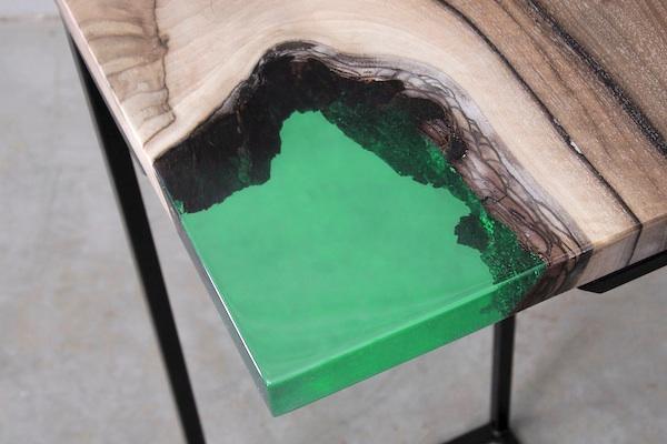 transparent green resine epoxy