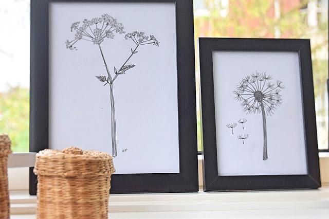 Blomster tegninger