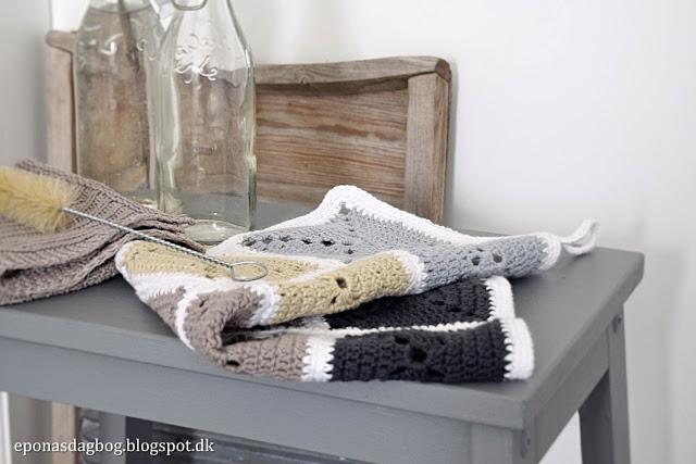 Hæklet køkkenhåndklæde