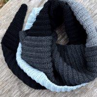 Rib hæklet halstørklæde