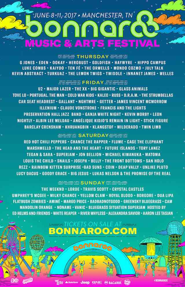 Bonnaroo 2017 daily schedule
