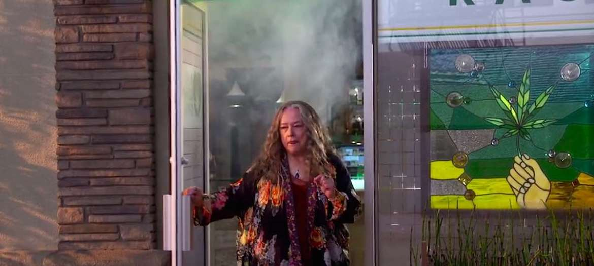 Kathy Bates in Disjointed on Netflix, Premieres August 25