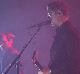Interpol performing at The Chicago Theatre in Chicago on Feb. 7, 2019