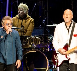 The Who performing at Hollywood Casino Amphitheatre Chicago on May 21, 2019