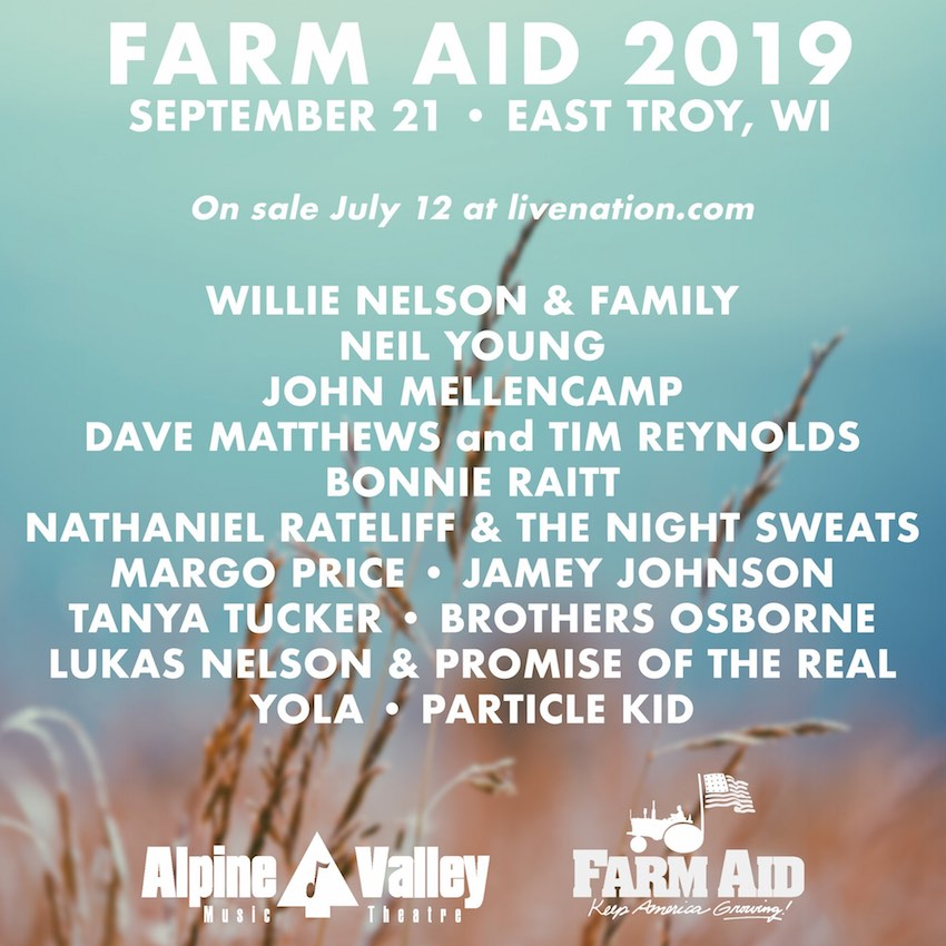 Farm Aid 2019 Set For Wisconsin S Alpine Valley With Willie Nelson Neil Young Dave Matthews Eponymous Review