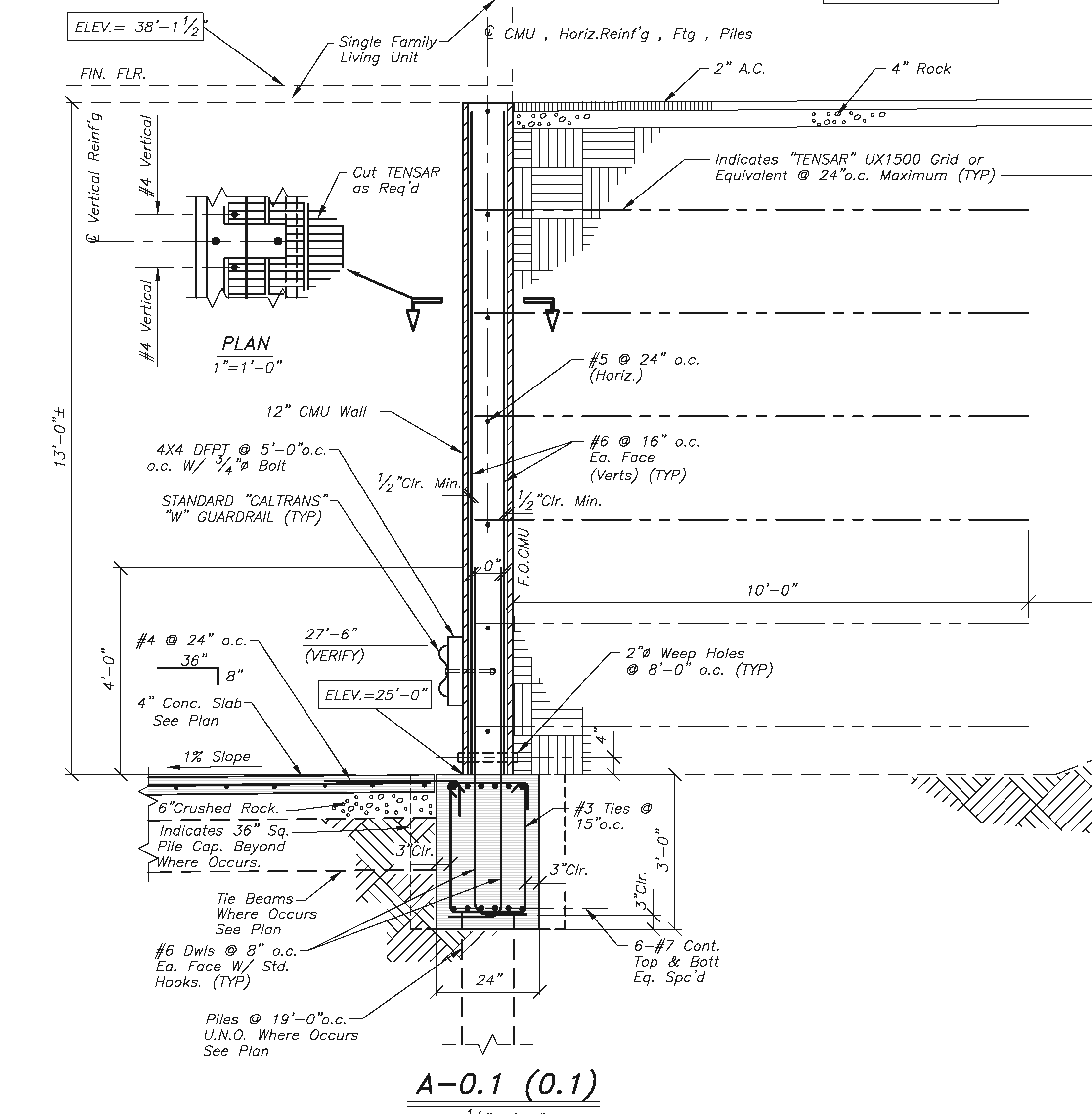 S0 1 Detail A 0 1 River Landing Structural Drawings