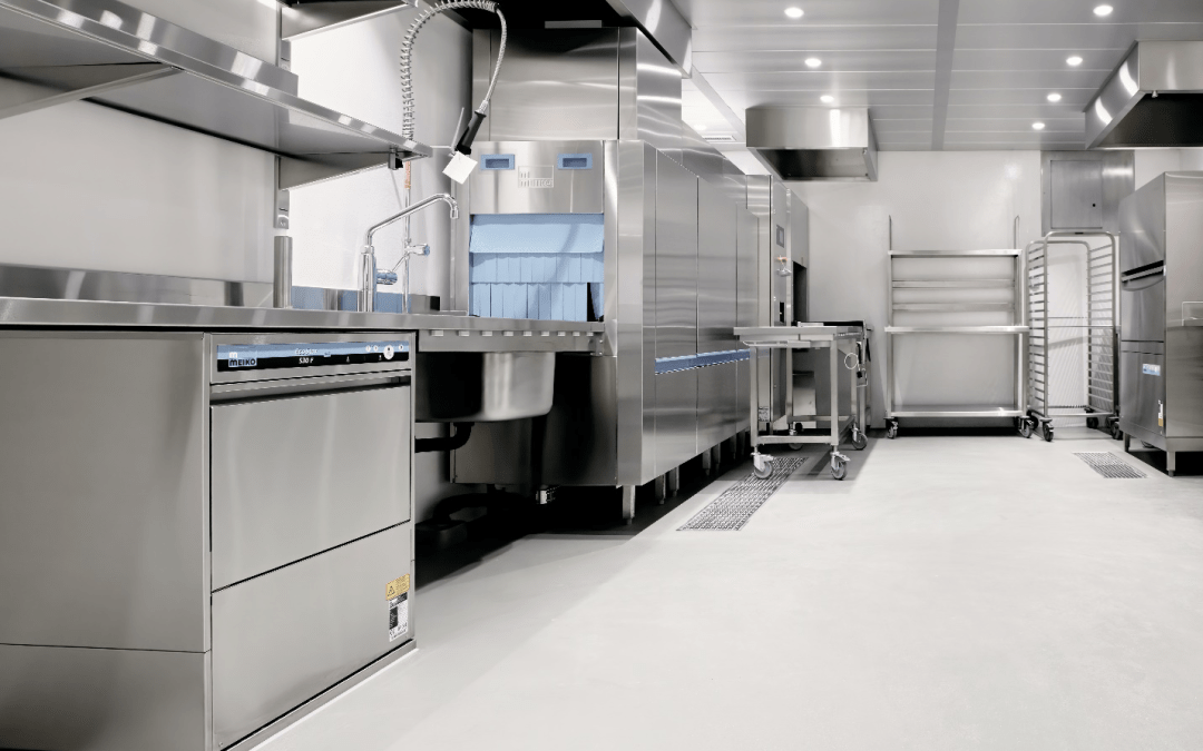Epoxy floors in an industrial facility are the safest option