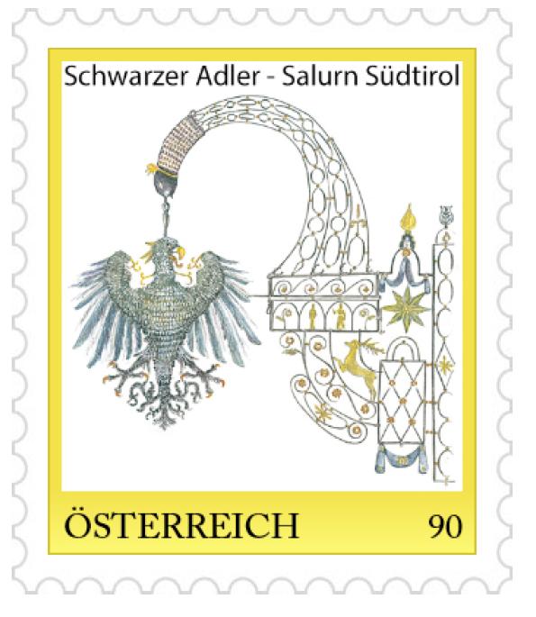 Francobollo Albergo Schwarzer Adler di Salorno