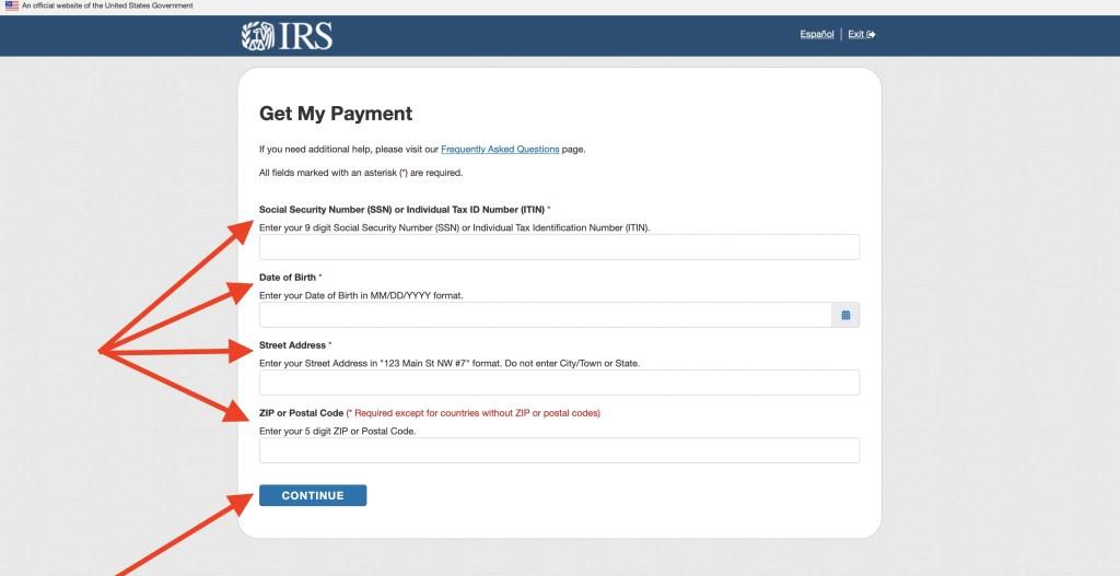 IRS Get My Payment App Login