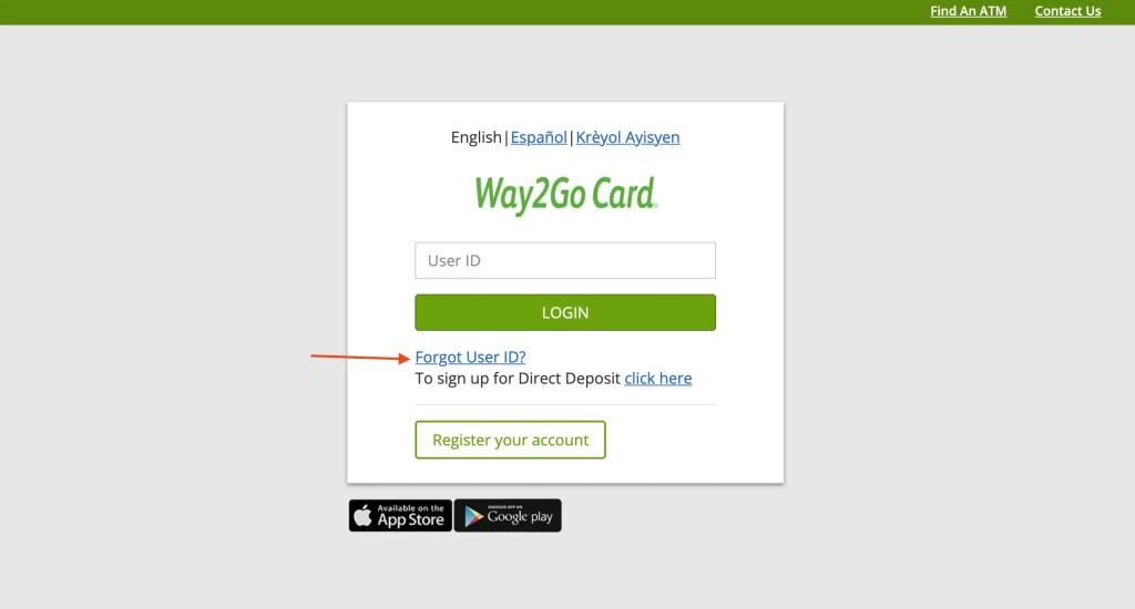 Forgot Way2Go Florida User ID