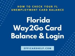 Florida Way2Go Card Balance and Login