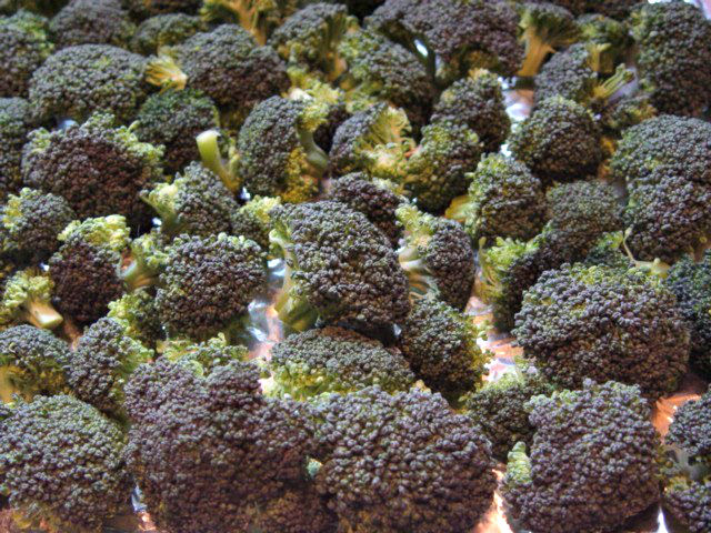 Roast the broccoli florettes (and cheddar croutons) at 375° F for 20 minutes