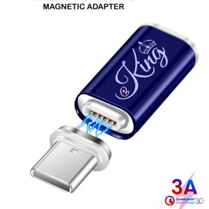 EKING Magnetic USB Micro Female to Type C USB Male