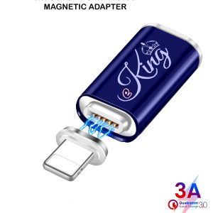 EKING Magnetic USB Micro Female to iPhune USB Male Adapter