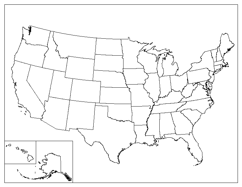 With 50 states in total, there are a lot of geography facts to learn about the united states. Printable Blank Map Of The United States Eprintablecalendars Com