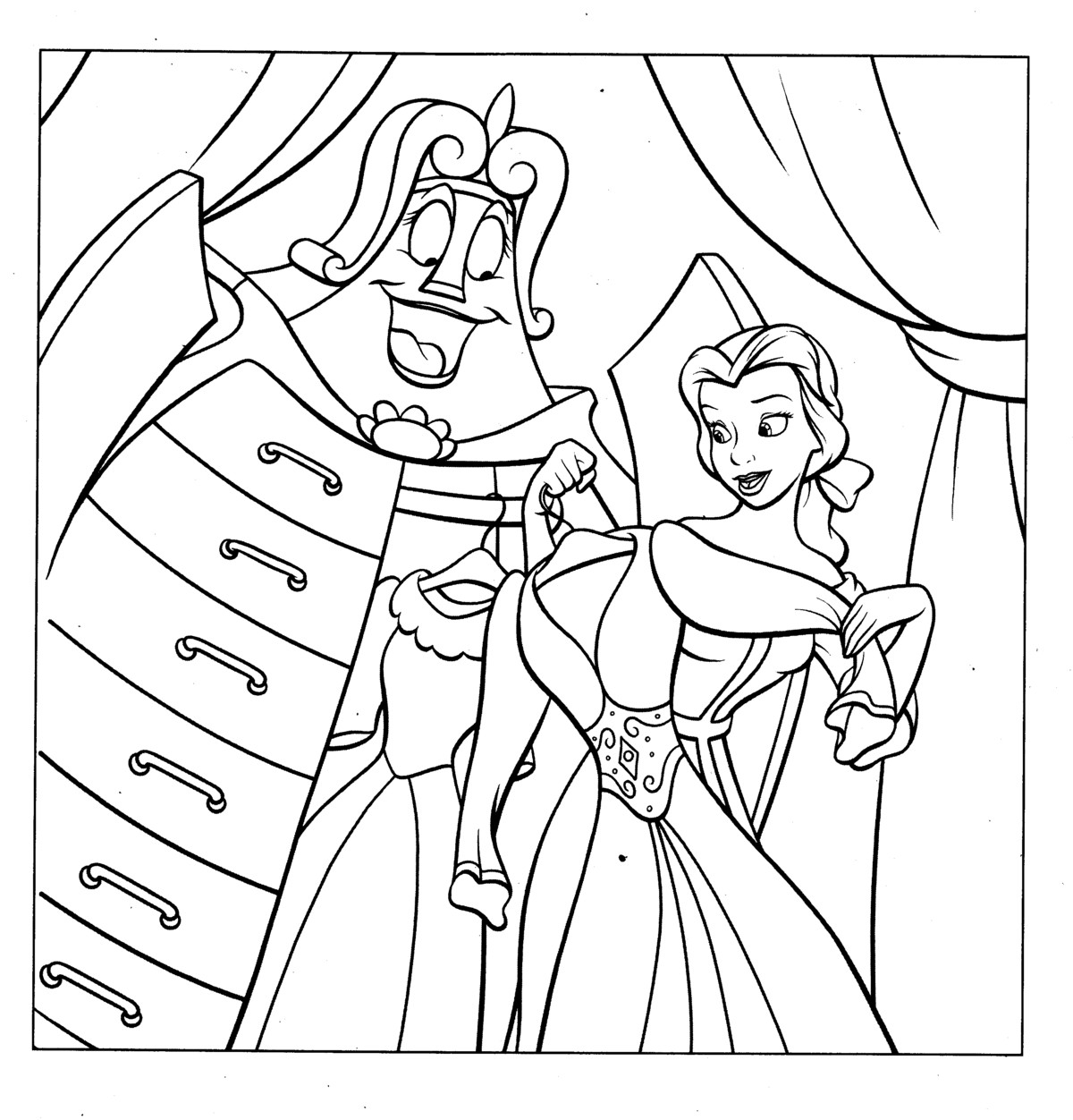 Belle Princess Coloring Pages For Kids Free Printable Coloring Pages For Kids Colouring Pages