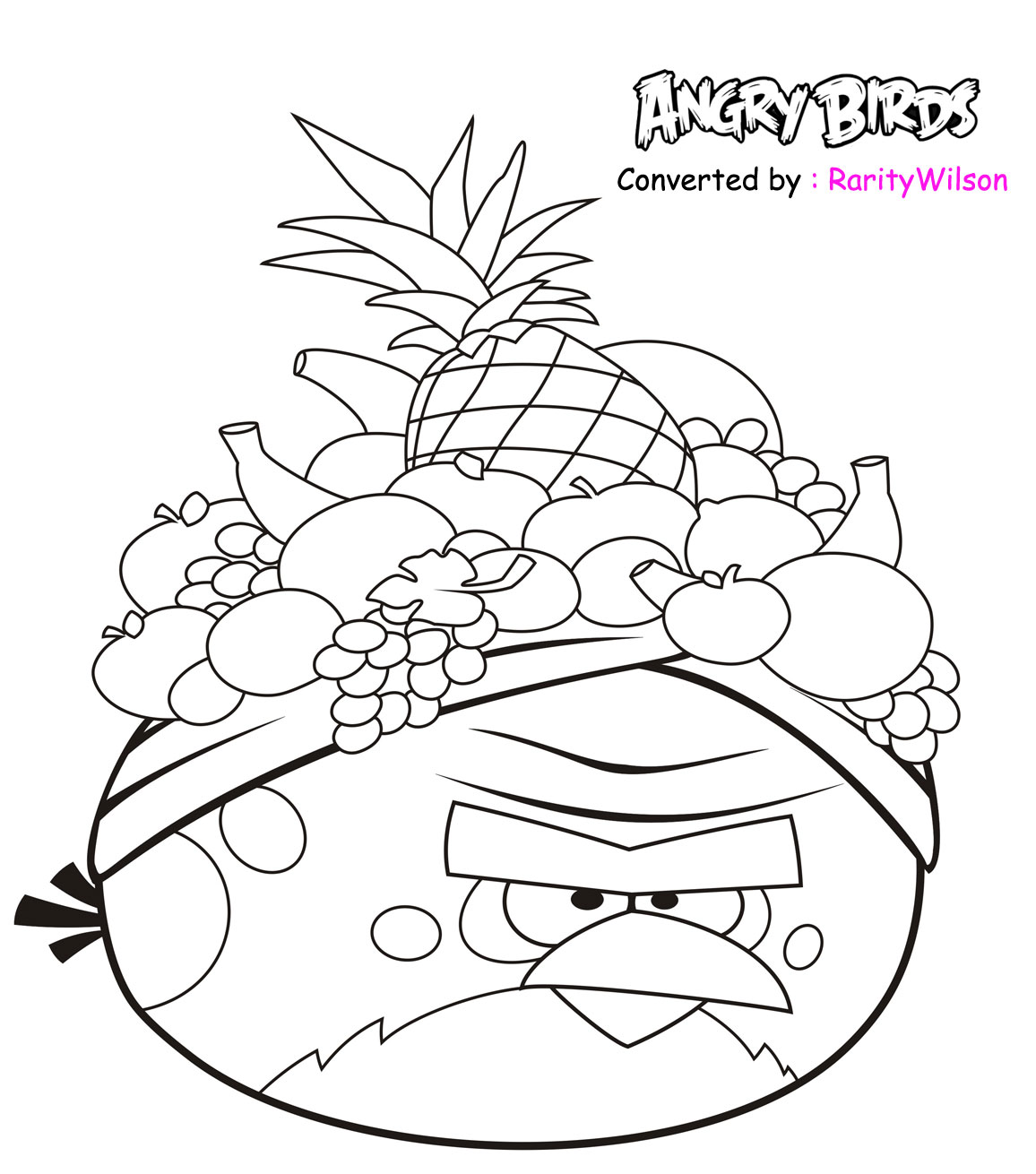 Men White Angry Birds Coloring Pages Free Printable