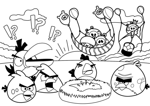 angry bird coloring page # 82