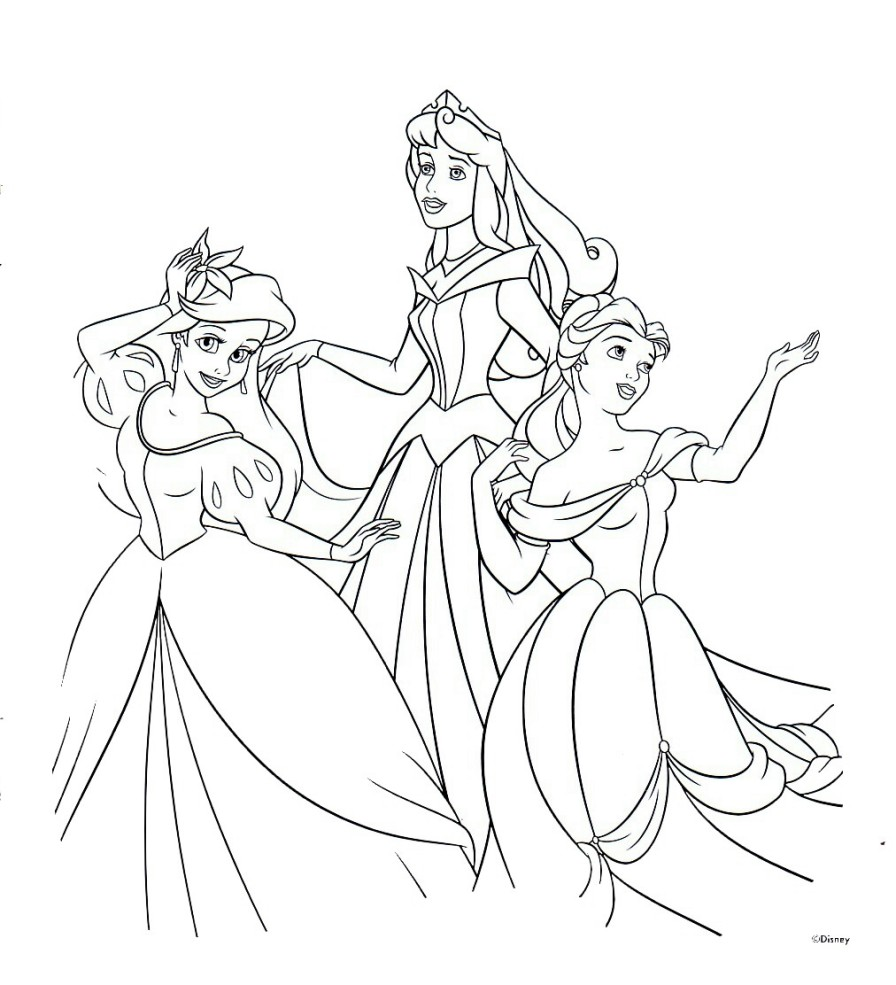 Disney Princess Coloring Pages 9 Free Printable Coloring Pages