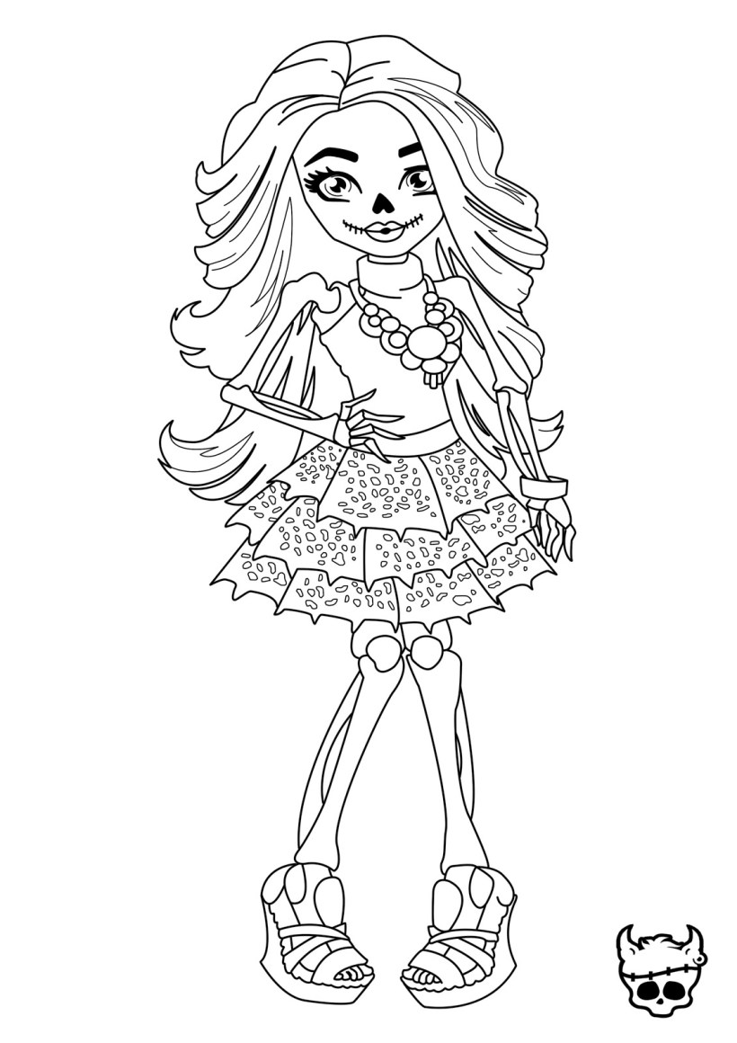 Pictures Of Monster High Dolls To Color | Bedwalls.co
