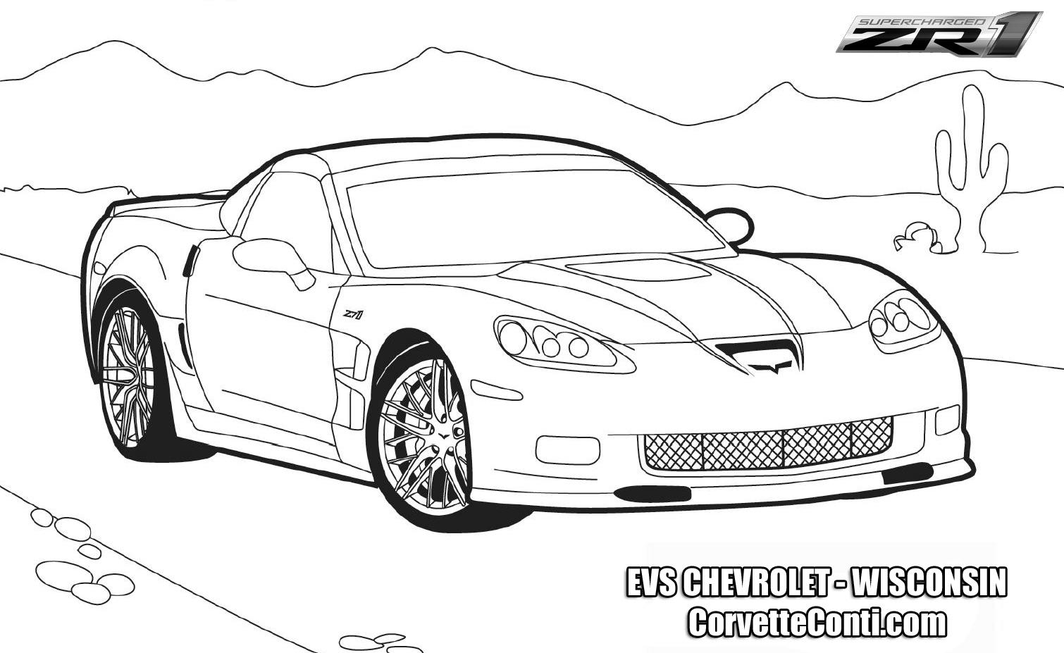 Zr1 Corvette Car Coloring Pages Race Car Coloring Pages Free