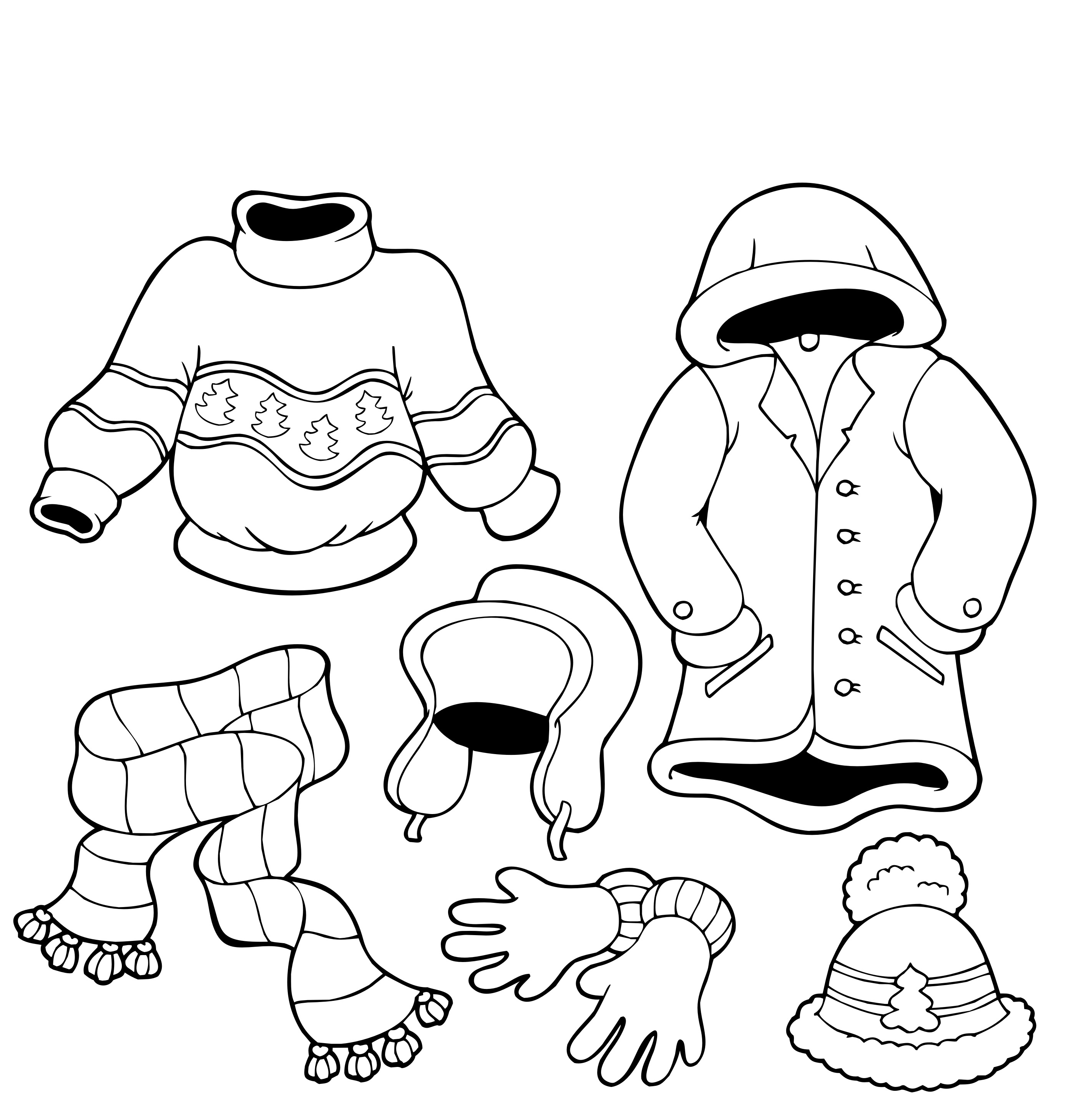 All Clothes Outside Winter Coloring Pages Coloring Pages For