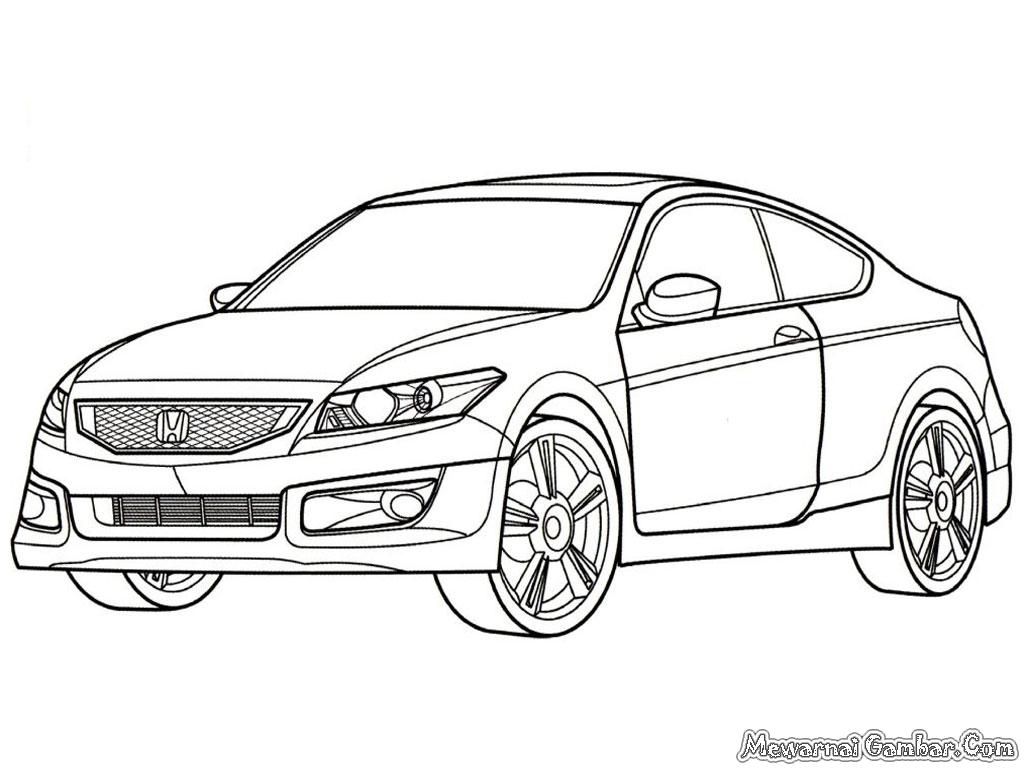 Honda Accord Sport Cars Coloring Pages