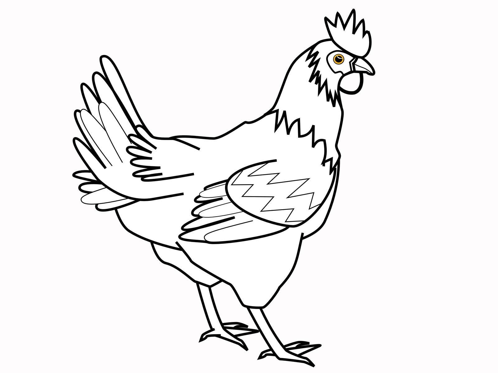 Chicken Coloring Pages Little Rooster Animal Coloring Pages