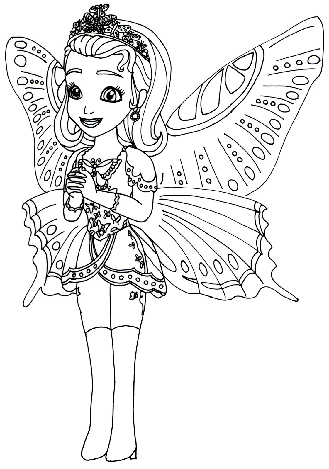 Sofia The First Coloring Pages Halloween Printable Princess