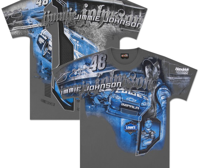 Jimmie Johnson Nascar Full Logo T Shirt