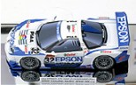 Papercraft recortable del coche racing car EPSON NSX 2004. Manualidades a Raudales.