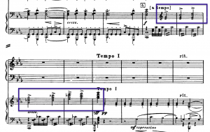 1st movement transition to 2nd theme