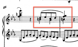 1st movement, development, piano