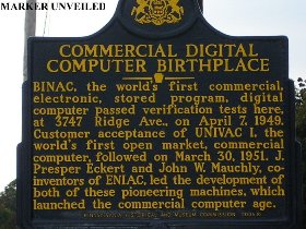 Marker at the site of EMCC
