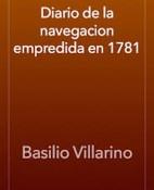 Diario de la Navegacion Empredida en 1781 - Basilio Villarino portada