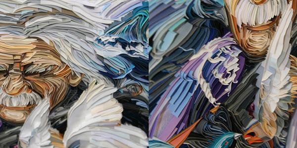 Портреты из скрученных полосок бумаги от Юлии Бродской