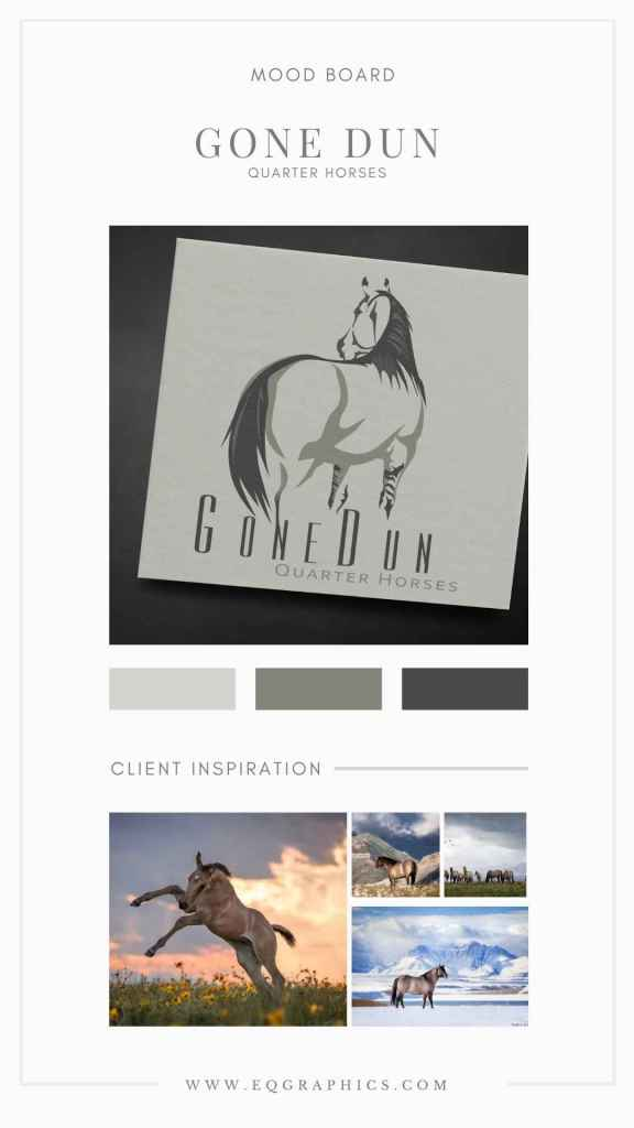Beauty of Western Photography Brought to Life in Grulla Horse Logo