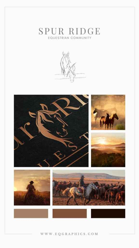 Less is More With This Custom Western Horse Logo Designed for an Equestrian Community.