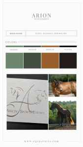 Sophisticated Hand Drawn Sporthorse Logo With Hand Lettered Monogram