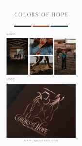 Copper Foil Cowgirl Logo for Equine Therapy Center