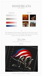 Line Art Patriotic Horse Logo Paired With American Flag Inspired Palette