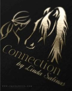 Elegant Line Art Logo Featuring Bond Between Morgan Horse and Woman