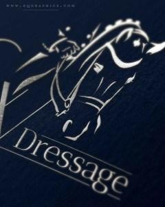 Silver Foil Dressage Horse Logo Promotes Luxury Branding