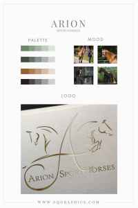 Rustic Chic Color Palette Meets Stunning Luxury Sporthorse Logo